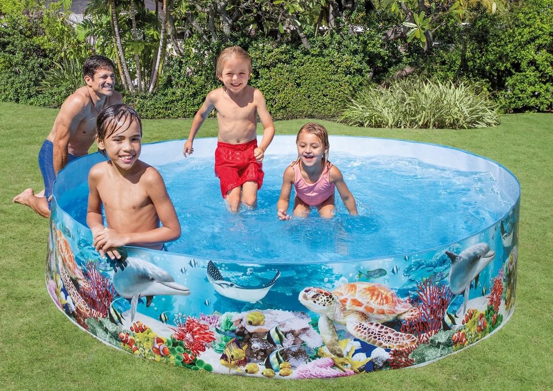INTEX - velký dětský bazén samonosný Korálový útes