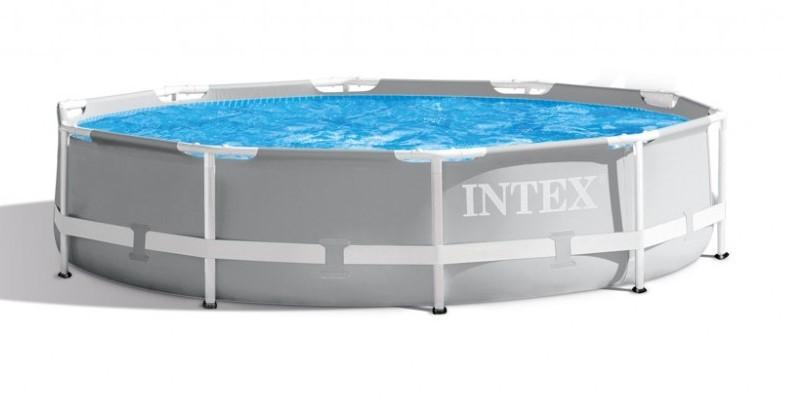 INTEX - Zahradní bazén Prism Frame 305 x 76 cm s kartušovou filtrací