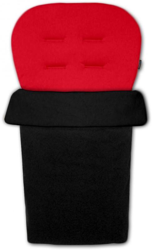 IVEMA BABY - Vložka do kočárku a nánožník 2 v 1 - červená