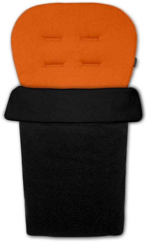IVEMA BABY - Vložka do kočárku a nánožník 2 v 1 - oranžová