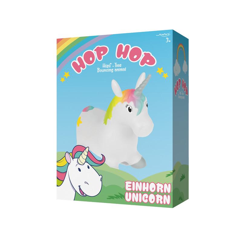 JOHN - Hopsadlo HOP HOP jednorožec 55x50cm John