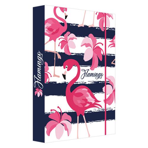 JUNIOR - Box na sešity A4 Flamingo