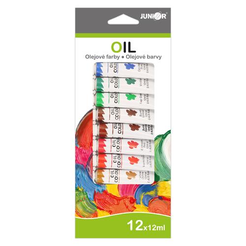 JUNIOR - Barvy olejové 12ml x12 ks JUNIOR