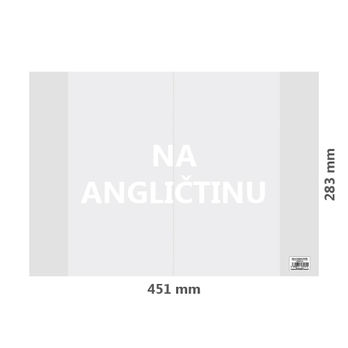 JUNIOR - Obal na Angličtinu PVC 451x283 mm, hrubý / transparentní, 1 ks