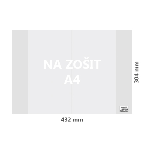 JUNIOR - Obal na sešit A4 PVC 432x304 mm, hrubý / transparentní, 10 ks