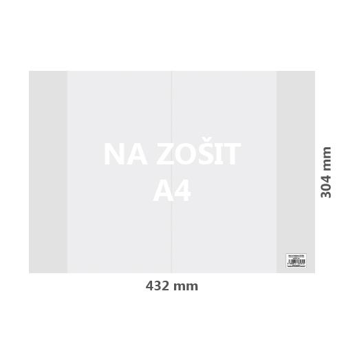 JUNIOR - Obal na sešit A4 PVC 432x304 mm, hrubý / transparentní, 100 ks