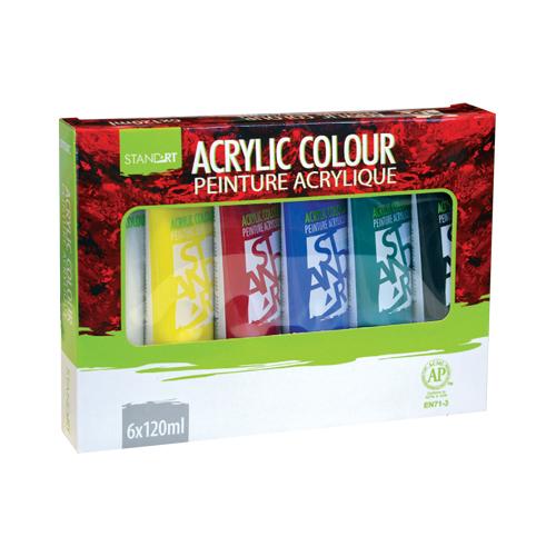 JUNIOR-ST - Barvy akrylové 6 ks x 120 ml