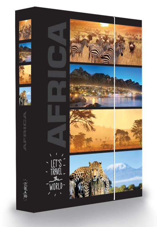 KARTON PP - Box na sešity A4 Afrika