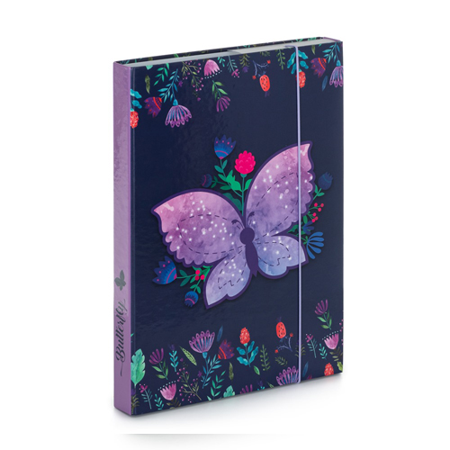 KARTON PP - Box na sešity A4 Butterfly