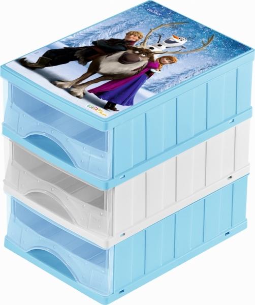 KEEEPER - Boxy na hračky - sada 3 šuplíků FROZEN