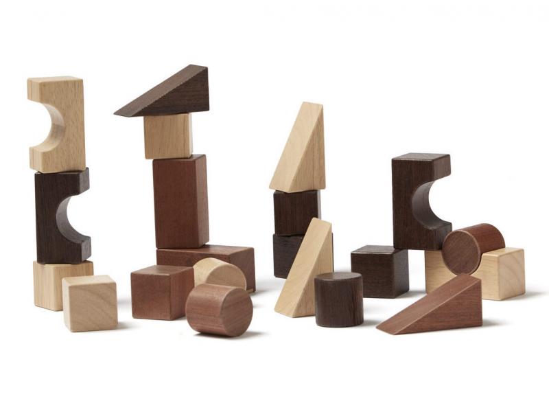 KIDS CONCEPT - Kostky dřevěné 21 ks Neo