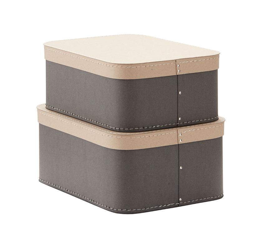 KIDS CONCEPT - Krabice 2 ks Grey
