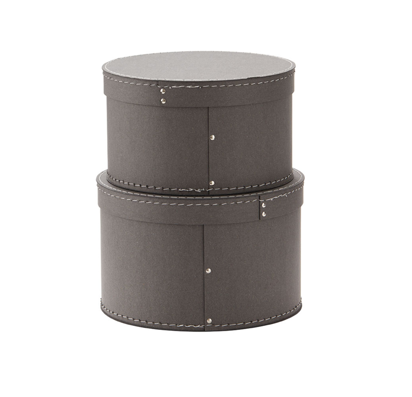 KIDS CONCEPT - Krabice kulatá 2 ks Grey
