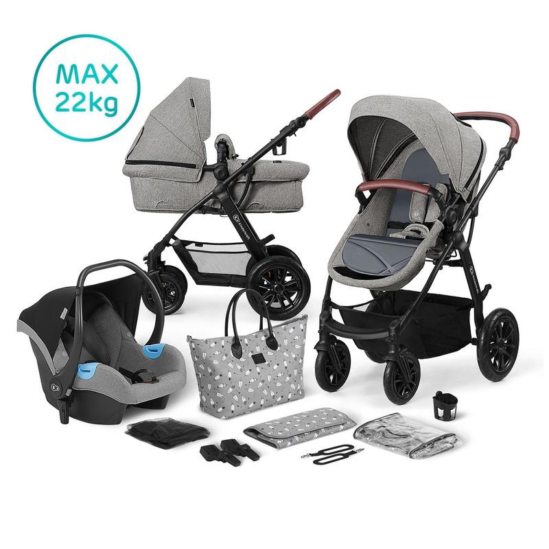 KINDERKRAFT - Kočárek kombinovaný 3v1 XMOOV Grey 2019/2020