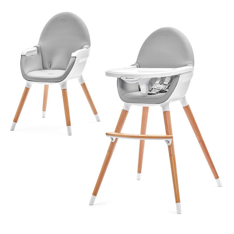 KINDERKRAFT - Židle jídelní FINI grey KinderKraft