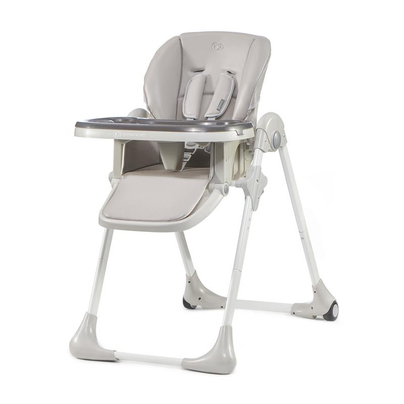 KINDERKRAFT - Židlička jídelní YUMMY grey Kinderkraft