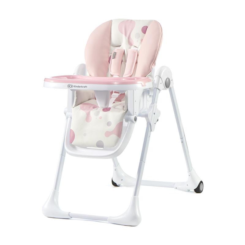 KINDERKRAFT - Židlička jídelní YUMMY pink Kinderkraft