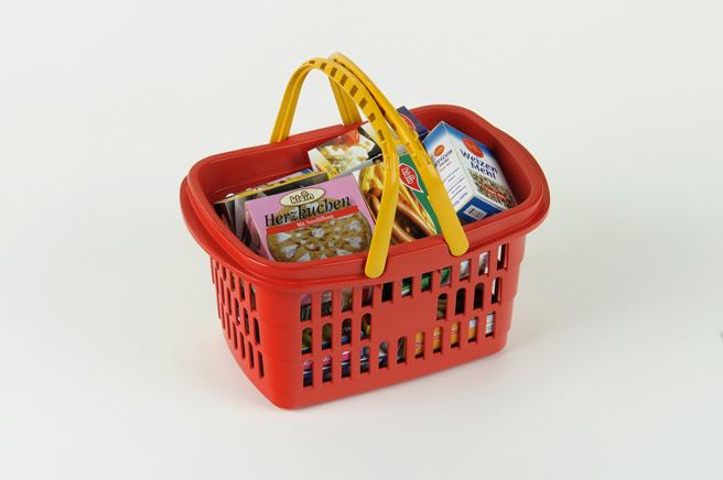KLEIN - Nákupní košík s maketami potravin