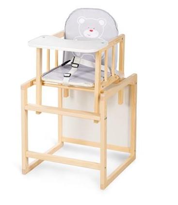 KLUPS - Jídelní stoleček Anežka C1 Borovice - Medvídek šedý