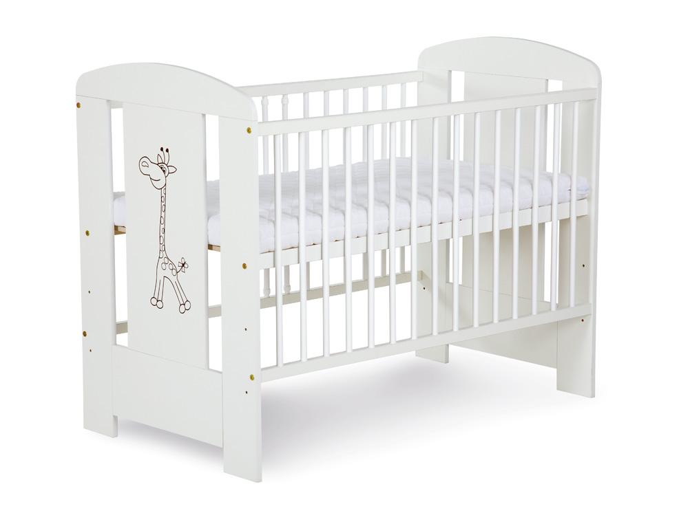 KLUPS - Postýlka dřevěná SAFARI 120 x 60 bílá