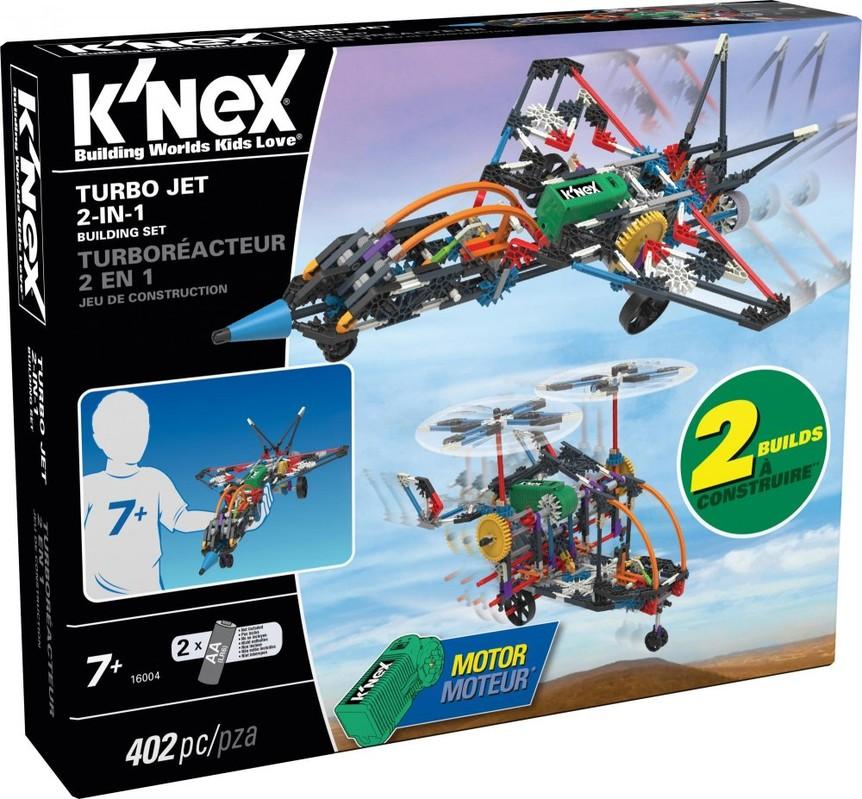 K\\'NEX - Stavebnice letadlo Turbo Jet 2 v 1, 402 dílků