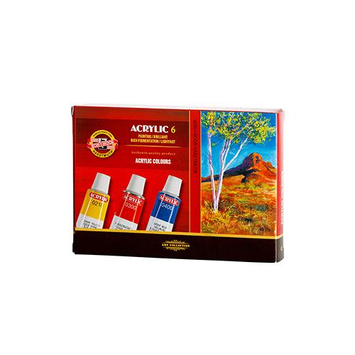 KOH-I-NOOR - Barvy akrylové 6 barev x 16 ml