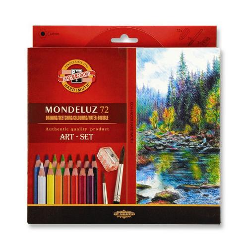 KOH-I-NOOR - Pastelky KOH-I-NOOR Mondeluz, akvarelové, sada 72 ks
