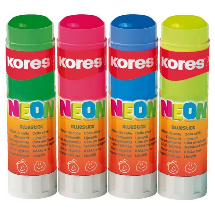 KORES - Tuhé lepidlo KORES Neon blistr 20 g