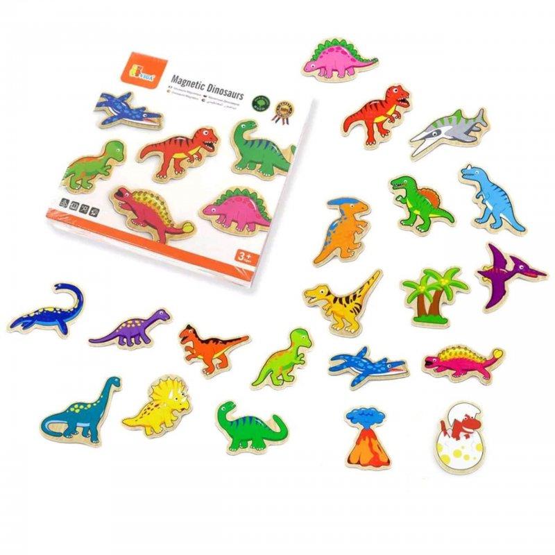 LAMPS - Dřevěné magnetky dinosauři 20ks