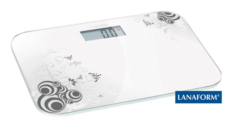 LANAFORM - Electronic Scale digitální osobní váha bílá