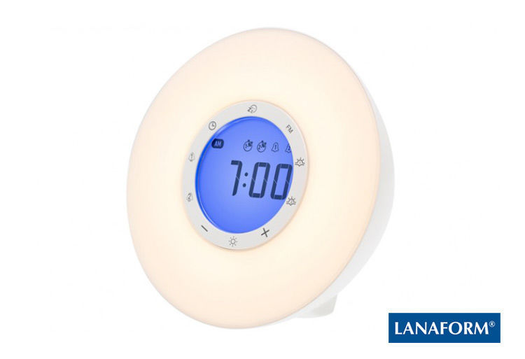 LANAFORM - Wake Up Light Multifunkční LED rádiobudík