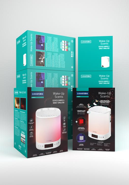 LANAFORM - Wake-Up Scents multifunkční aromabudík
