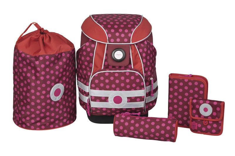 Lässig - Školní batoh School Set - Dottie red