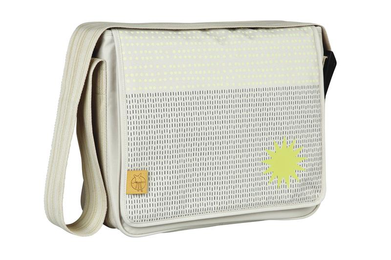 Lässig - Taška na rukojeť Casual Messenger Bag - Dots Strokes sand