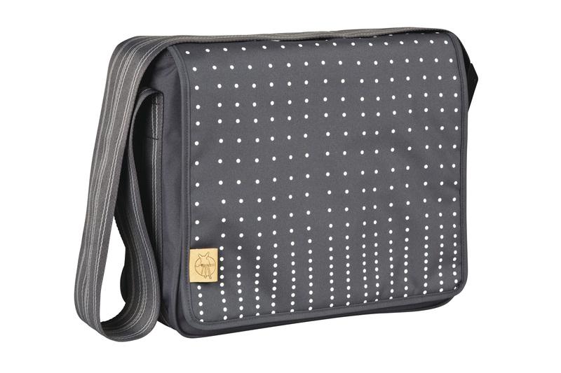 Lässig - Taška na rukojeť Casual Messenger Bag - Dotted lines ebony