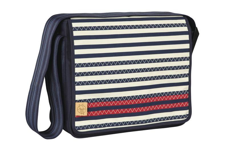 Lässig - Taška na rukojeť Casual Messenger Bag - Striped zigzag navy