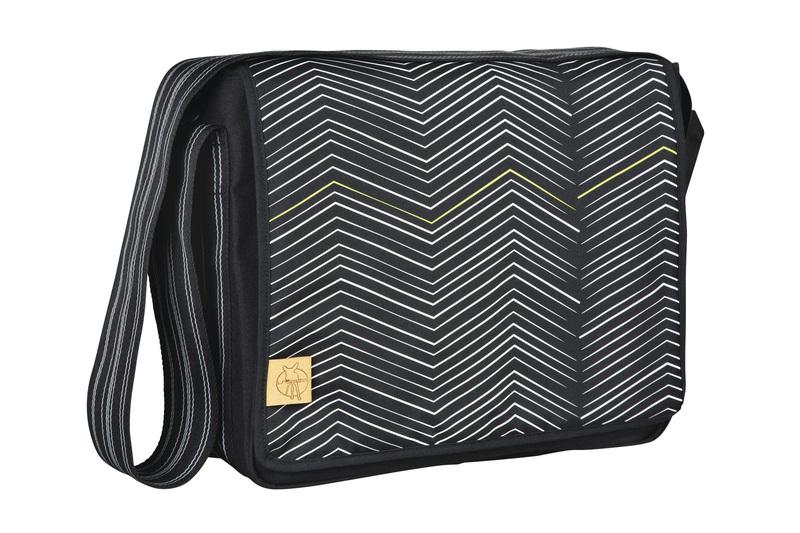 Lässig - Taška na rukojeť Casual Messenger Bag - Zigzag black white