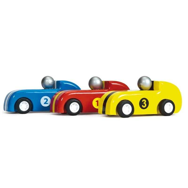LE TOY VAN - Set 3 závodních autíček