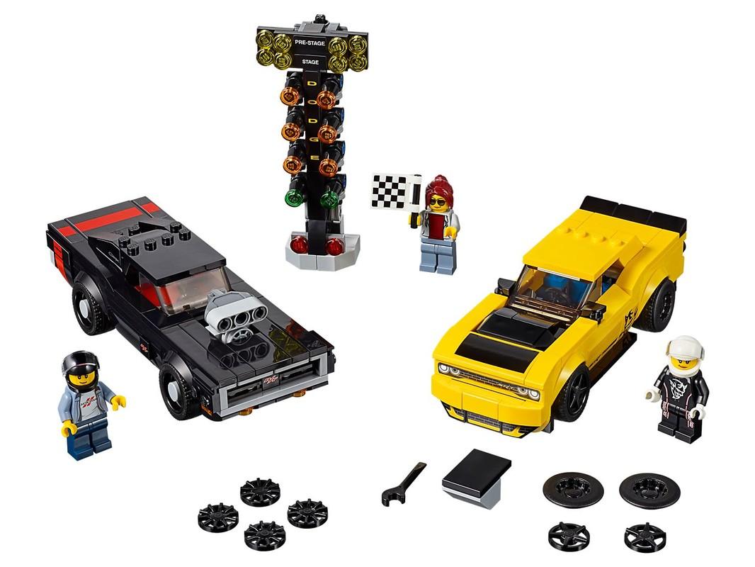 LEGO - 2018 Dodge Challenger Srt Demon A 1970 Dodge Charger R/T