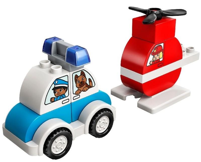 LEGO - DUPLO 10957 Hasičský vrtulník a policejní auto