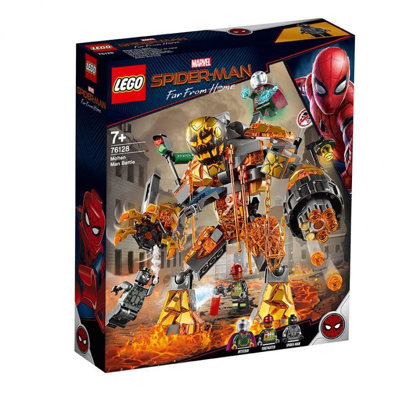 LEGO - Marvel Spider-Man 76128 Boj s Molten Manom