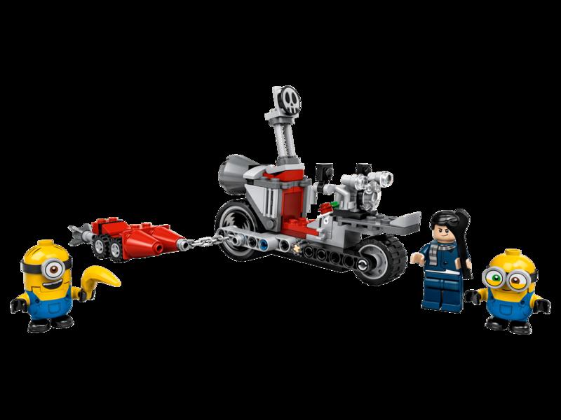 LEGO - Minions 75549 Divoká honička na motorce