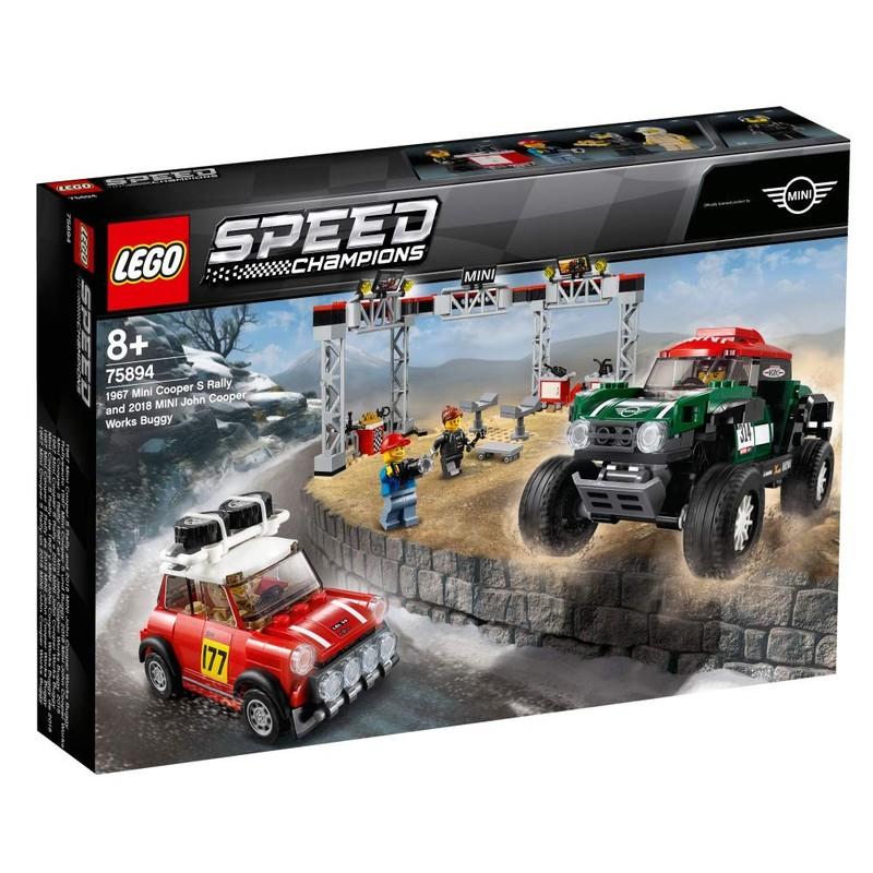 LEGO - Speed ??Champions 75894 1967 Mini Cooper S Rally a 2018 MINI John Cooper Works Buggy
