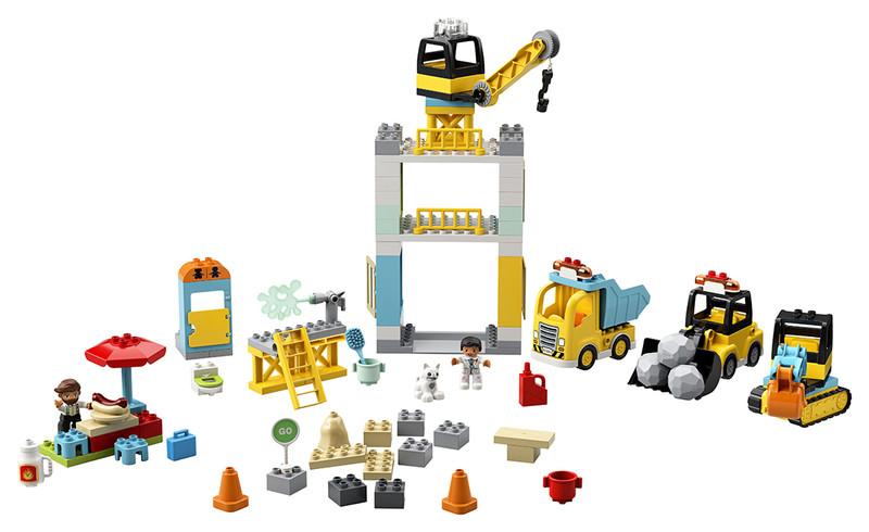 LEGO - Stavba s věžovým jeřábem