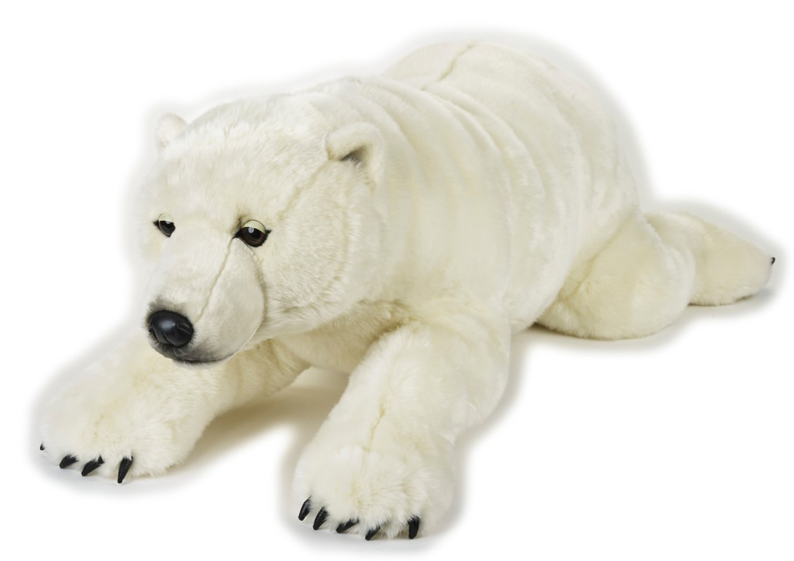 LELLY - National Geografic Polární zvířátka 770807 Bílý medvěd - 118 cm