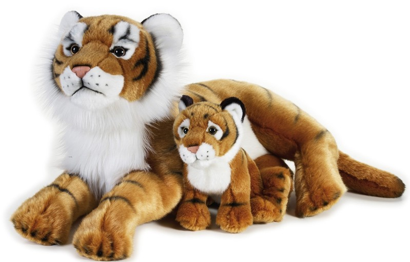 LELLY - National Geografic Velké kočkovité šelmy 770763 Tiger s mláďátkem - 48 cm