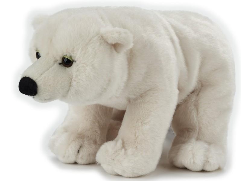 LELLY - National Geografic Základní kolekce zvířátek 770842 Bílý medvěd - 25 cm