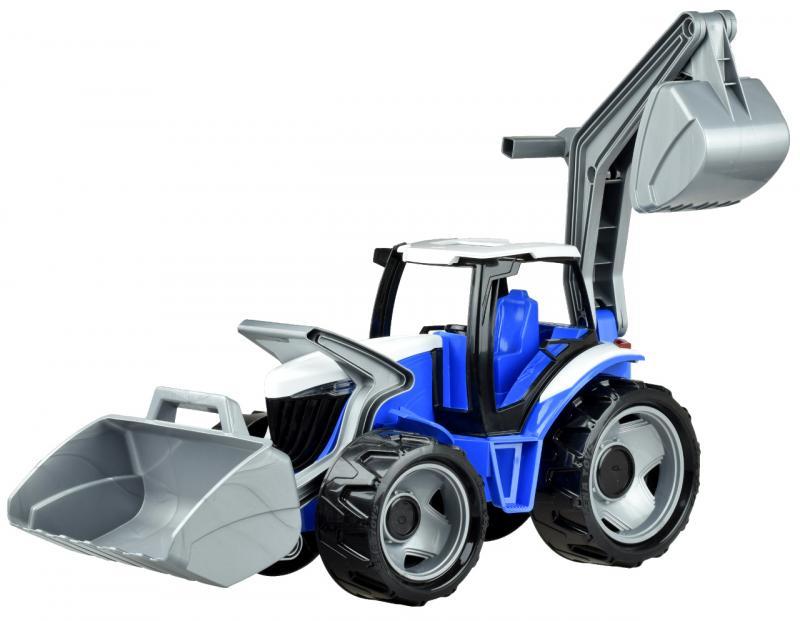LENA - Traktor se lžící a bagrem, modře šedý