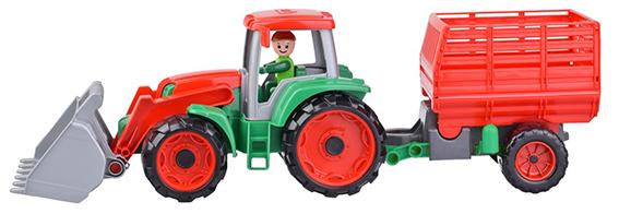 LENA - Truxx Traktor S Přívěsem Na Seno, Ozdobný Kartón