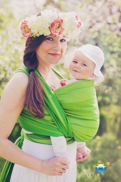 LITTLE FROG - Tkaný šátek na nošení dětí - BERYL